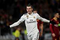 Gareth Bale of Real Madrid celebrates after scoring a goal  during the Uefa Champions League 2018/2019 Group G football match between AS Roma and Real Madrid at Olimpico stadium Allianz Stadium, Rome, November, 27, 2018 <br />  Foto Andrea Staccioli / Insidefoto