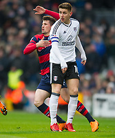Fulham's Tom Cairney during the Sky Bet Championship match between Fulham and Queens Park Rangers at Craven Cottage, London, England on 17 March 2018. Photo by Andrew Aleksiejczuk / PRiME Media Images.