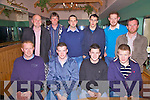 Enjoying a night out at the Derrynane GAA Social in The Scariff Inn on Friday night last were front l-r;David Anthony Breen, Shane McGillicuddy, Morgan O'Donoghue, Dave McGillicuddy, back l-r; Barry Clifford, John O'Shea, Mike White, Mike O'Connor, Adrian Breen & Shane O'Donoghue.