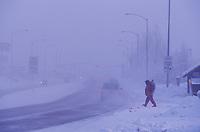 Ice Fog on College road, Fairbanks, Alaska
