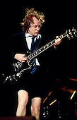 AC/DC - lead guitarist Angus Young performing live on the Stiff Upper Lip Tour of Europe at the Olympiahalle, Munich, Germany - 21 Oct 2000 - Photo by: George Chin