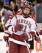 Alex Meintel (Harvard - 21) - The Northeastern University Huskies defeated the Harvard University Crimson 3-1 in the Beanpot consolation game on Monday, February 12, 2007, at TD Banknorth Garden in Boston, Massachusetts.