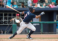 NWA Democrat-Gazette/BEN GOFF @NWABENGOFF<br /> Jecksson Flores, Northwest Arkansas third baseman, lines out in the 5th inning against Arkansas Wednesday, May 16, 2018, at Arvest Ballpark in Springdale.