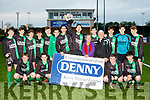 Champs<br /> -----------<br /> Fenit Samphires celebrate their 2-0 victory over Park in the Jimmy Falvey memorial cup final last Saturday evening at Mounthawk pk, Tralee.