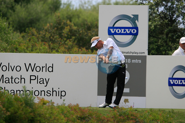 Soren Kjeldsen (DEN) tees off on the 2nd tee during the afternoon session on Day 2 of the Volvo World Match Play Championship in Finca Cortesin, Casares, Spain, 20th May 2011. (Photo Eoin Clarke/Golffile 2011)