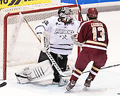 Jon Gillies (PC - 32), Johnny Gaudreau (BC - 13) - The Providence College Friars tied the visiting Boston College Eagles 3-3 on Friday, December 7, 2012, at Schneider Arena in Providence, Rhode Island.