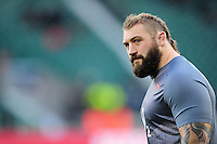 Joe Marler of England looks on during the pre-match warm-up. RBS Six Nations match between England and France on February 4, 2017 at Twickenham Stadium in London, England. Photo by: Patrick Khachfe / Onside Images
