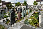 Friedhof, cemetary, Mauren, Rheintal, Rhine-valley, Liechtenstein.