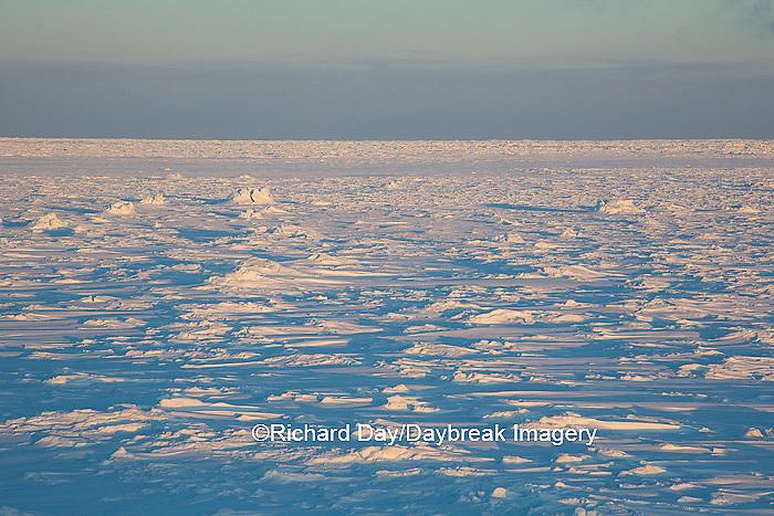 60595-01120 Sunset over Hudson Bay, Cape Churchill, Wapusk National Park near Churchill, MB Canada