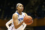14 November 2013: Duke's Kendall McCravey-Cooper. The Duke University Blue Devils played the University of South Carolina Upstate Spartans at Cameron Indoor Stadium in Durham, North Carolina in a 2013-14 NCAA Division I Women's Basketball game. Duke won the game 123-40.