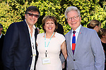 LOS ANGELES - APR 9: Michael Kichaven, Ilyanne Morden Kichaven, John Mauceri at The Actors Fund's Edwin Forrest Day Party and to commemorate Shakespeare's 453rd birthday at a private residence on April 9, 2017 in Los Angeles, California