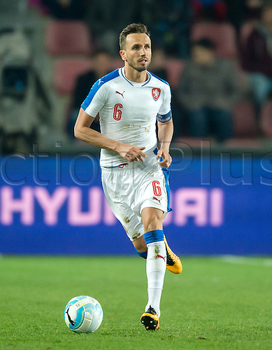 24.03.2016. Prague, Czech Republic.  The Czech Republic's Tomas Sivok  in action during the international friendly match between the Czech Republic and Scotland at Letna Stadium in Prague, Czech Republic, 24 March 2016.