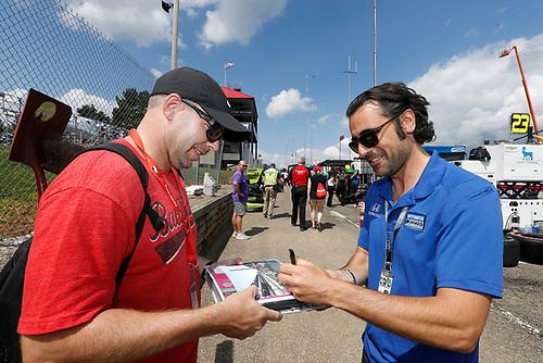 Ed Jones, Chip Ganassi Racing Honda coach Dario Franchitti