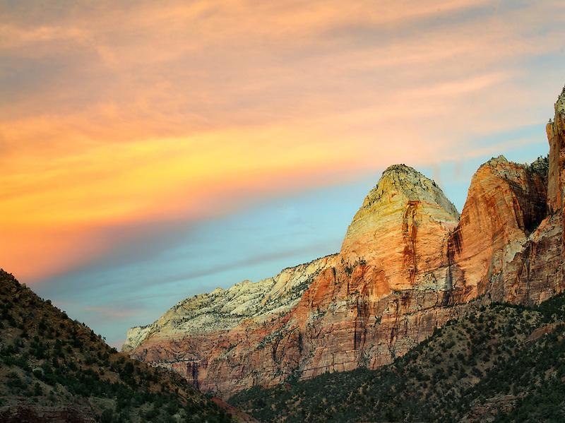 Sunset clouds at Zion National Park, Utah