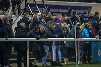 Supporters during the Championship Cup match between London Scottish Football Club and Ealing Trailfinders at Richmond Athletic Ground, Richmond, United Kingdom on 23 November 2018. Photo by David Horn/PRiME Media Images