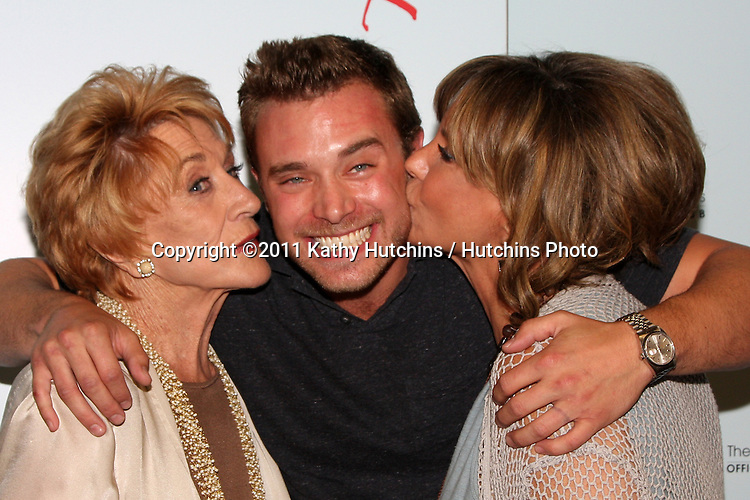 LOS ANGELES - AUG 26:  Jeanne Cooper, Billy Miller, Jess Walton attending the Young & Restless Fan Dinner 2011 at the Universal Sheraton Hotel on August 26, 2011 in Los Angeles, CA