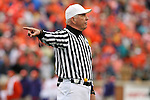 07 October 2006: Referee Tom Zimorski. The Clemson University Tigers defeated the Wake Forest University Demon Deacons 27-17 at Groves Stadium in Winston-Salem, North Carolina in an Atlantic Coast Conference NCAA Division I College Football game.