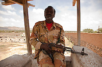 Tower guard. Maximum security prison Manhera, Somaliland.