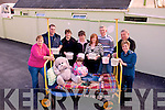 Bed Push: Pictured in Lixnaw are some of the participants in a bed push from Listowel to Tralee this Saturday for Tralee & District Chernobyl Childrens Fund; l-r Gena Daughton, Tony Daughton, Mary O'Keeffe, Joan Griffin, Trish Daughton, Tom Cleer, John O'Keeffe, Mary  Diamond & Jade Daughton (on bed)..(Contact) Joan Griffin 0861538532)