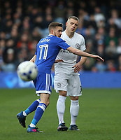 Queens Park Rangers' Jake Bidwell and Cardiff City's Craig Noone<br /> <br /> Photographer /Rob NewellCameraSport<br /> <br /> The EFL Sky Bet Championship - Queens Park Rangers v Cardiff City - Saturday 4th March 2017 - Loftus Road - London<br /> <br /> World Copyright &copy; 2017 CameraSport. All rights reserved. 43 Linden Ave. Countesthorpe. Leicester. England. LE8 5PG - Tel: +44 (0) 116 277 4147 - admin@camerasport.com - www.camerasport.com
