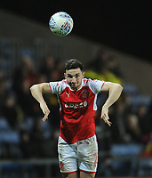 Fleetwood Town's Lewie Coyle<br /> <br /> Photographer Kevin Barnes/CameraSport<br /> <br /> The EFL Sky Bet League One - Oxford United v Fleetwood Town - Tuesday 10th April 2018 - Kassam Stadium - Oxford<br /> <br /> World Copyright &copy; 2018 CameraSport. All rights reserved. 43 Linden Ave. Countesthorpe. Leicester. England. LE8 5PG - Tel: +44 (0) 116 277 4147 - admin@camerasport.com - www.camerasport.com