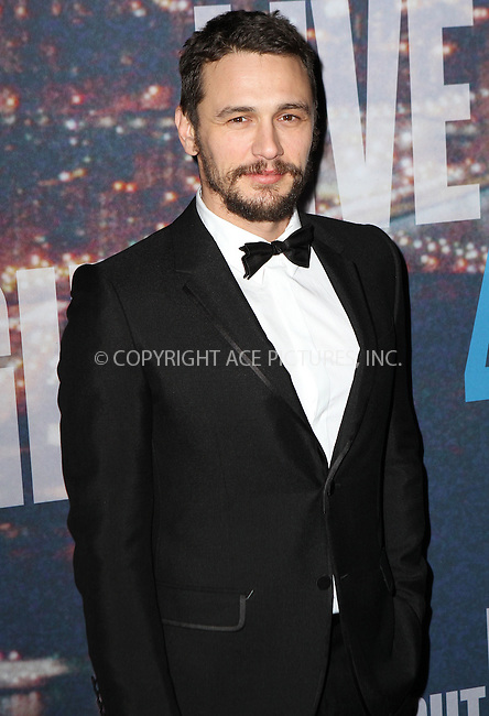 WWW.ACEPIXS.COM<br /> <br /> February 15 2015, New York City<br /> <br /> James Franco arriving at the SNL 40th Anniversary Special at the Rockefeller Plaza on February 15, 2015 in New York<br /> <br /> By Line: Nancy Rivera/ACE Pictures<br /> <br /> <br /> ACE Pictures, Inc.<br /> tel: 646 769 0430<br /> Email: info@acepixs.com<br /> www.acepixs.com