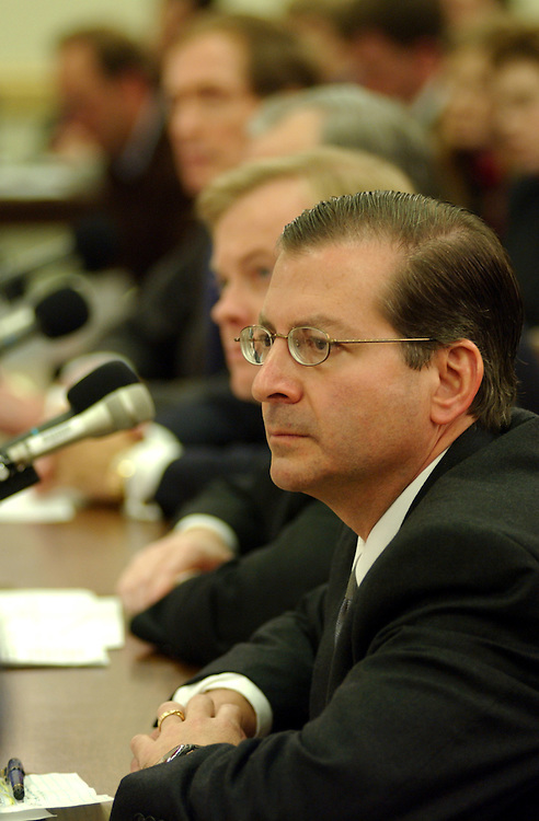 Enron30/020702 -- Jordan Mintz, a former company attorney, during the oversight and investigations subcommittee hearing to examine the findings of Enron's special investigative committee with respect to certain transactions between Enron and some of its current and former officers and employees.