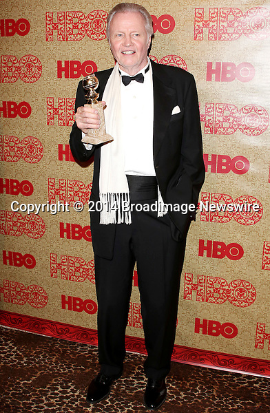 Pictured: Jon Voight <br /> Mandatory Credit &copy; Frederick Taylor/Broadimage<br /> HBO's Post 2014 Golden Globe Awards Party - Arrivals<br /> <br /> 1/12/14, Los Angeles, California, United States of America<br /> <br /> Broadimage Newswire<br /> Los Angeles 1+  (310) 301-1027<br /> New York      1+  (646) 827-9134<br /> sales@broadimage.com<br /> http://www.broadimage.com