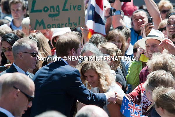 "PRINCE WILLIAM.Prince William opened the Supreme Court building in Wellington.The Prince was greeted with a traditional Maori Hongi on arrival and also wore a  Korowui (cape) made from feathers and plat fibbers.New Zealand's Primer Minister John Key accompanied Prince William.After the official opening Prince William took a walk about to meet his fans. Wellington, 18/01/2010 .Mandatory Credit Photo: ©DIAS-NEWSPIX INTERNATIONAL..**ALL FEES PAYABLE TO: ""NEWSPIX INTERNATIONAL""**..IMMEDIATE CONFIRMATION OF USAGE REQUIRED:.Newspix International, 31 Chinnery Hill, Bishop's Stortford, ENGLAND CM23 3PS.Tel:+441279 324672  ; Fax: +441279656877.Mobile:  07775681153.e-mail: info@newspixinternational.co.uk"