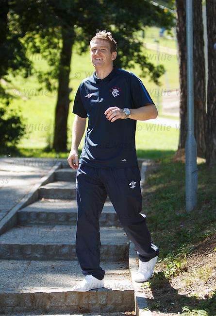 Steven Davis at the Europa League press conference in Maribor