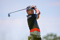Yusaku Miyazato (JAP) watches his tee shot on 13 during Friday's round 2 of the 117th U.S. Open, at Erin Hills, Erin, Wisconsin. 6/16/2017.<br /> Picture: Golffile | Ken Murray<br /> <br /> <br /> All photo usage must carry mandatory copyright credit (&copy; Golffile | Ken Murray)