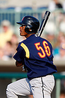June 24, 2009:  Infielder Andy Vasquez of the State College Spikes during a game at Eastwood Field in Niles, OH.  The Spikes are the NY-Penn League Short-Season A affiliate of the Pittsburgh Pirates.  Photo by:  Mike Janes/Four Seam Images