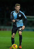 Jason McCarthy of Wycombe Wanderers on the ball during the Sky Bet League 2 match between Yeovil Town and Wycombe Wanderers at Huish Park, Yeovil, England on 24 November 2015. Photo by Andy Rowland.