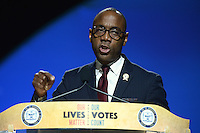 Cincinnati, OH - July 18, 2016: Cornell William Brooks, president of the NAACP, speaks before an audience at the NAACP convention in Cincinnati, Ohio, July 18, 2016.  (Photo by Don Baxter/Media Images International)