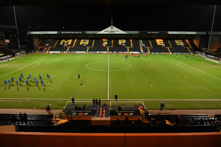 General view of Meadow Lane, home of Notts County<br /> <br /> Photographer Jon Hobley/CameraSport<br /> <br /> The EFL Sky Bet League Two - Notts County v Crawley Town - Tuesday 23rd January 2018 - Meadow Lane - Nottingham<br /> <br /> World Copyright &copy; 2018 CameraSport. All rights reserved. 43 Linden Ave. Countesthorpe. Leicester. England. LE8 5PG - Tel: +44 (0) 116 277 4147 - admin@camerasport.com - www.camerasport.com
