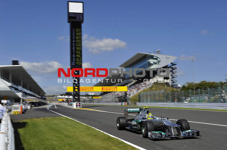 04. - 07.10.2012, Suzuka International Racing Course, Suzuka, JPN, F1, Grosser Preis von Japan, Suzuka, im Bild Nico Rosberg (GER), Mercedes GP <br />  Foto &copy; nph / Mathis
