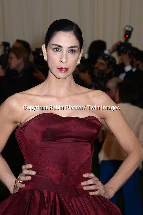 Sarah Silverman attends the Costume Institute Benefit on May 5, 2014 at the Metropolitan Museum of Art in New York City, NY, USA. The gala celebrated the opening of Charles James: Beyond Fashion and the new Anna Wintour Costume Center.