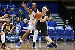 03 December 2015: Duke's Oderah Chidom (22) guards Minnesota's Shayne Mullaney (3). The Duke University Blue Devils hosted the University of Minnesota Golden Gophers at Cameron Indoor Stadium in Durham, North Carolina in a 2015-16 NCAA Division I Women's Basketball game. Duke won the game 84-64.