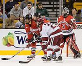 ?, ?, Alex Meintel (Harvard - 21) - The Northeastern University Huskies defeated the Harvard University Crimson 3-1 in the Beanpot consolation game on Monday, February 12, 2007, at TD Banknorth Garden in Boston, Massachusetts.