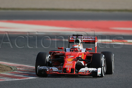 25.02.2016. Circuit de Catalunya, Barcelona, Spain. Day 4 of the Spring F1 testing and new car unvieling for 2016-17 season.  Scuderia Ferrari SF16-H – Kimi Raikkonen