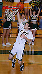 SPEARFISH, SD - FEBRUARY 22, 2014:  Tommy Earl #23 of Black Hills State gets an open layup against UC-Colorado Springs during their Rocky Mountain Athletic Conference game Saturday evening at the Donald E. Young Center in Spearfish, S.D.  (Photo by Dick Carlson/Inertia)