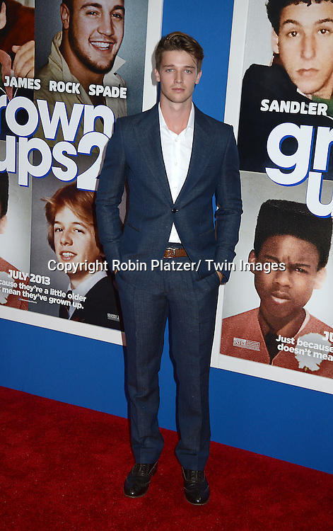 "Patrick Schwarzenegger attends the Special Screening of ""Grown Ups 2"" on July 10, 2013 at AMC Lincoln Square in New York City. The film stars Adam Sandler, Chris Rock, Kevin James, David Spade, Salma Hayek and Shaquille O' Neal."