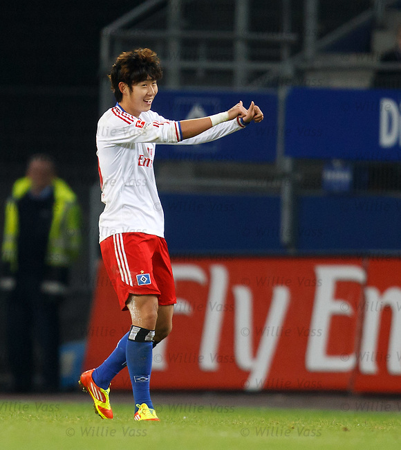 Heung Min Son celebrates his goal
