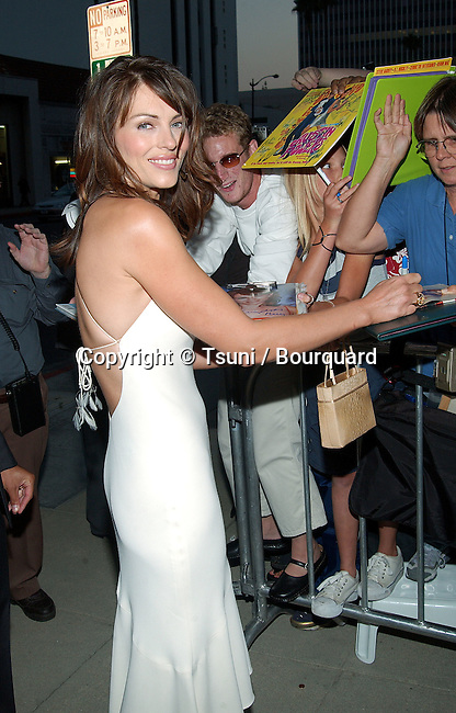 "Elizabeth Hurley signing autograph at the premiere of "" Serving Sara "" at the Samuel Goldwyn Theatre at Academy of Motion Picture Arts and Science in Los Angeles. August 20, 2002.           -            HurleyElizabeth10.jpg"