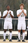 02 December 2007: Wake Forest's Michael Lahoud (13) and Cody Arnoux (17). The Wake Forest University Demon Deacons defeated the West Virginia University Mountaineers 3-1 at W. Dennie Spry Soccer Stadium in Winston-Salem, North Carolina in a Third Round NCAA Division I Mens Soccer Tournament game.