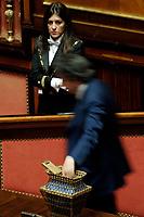 Voto<br /> Roma 23/03/2018. Prima seduta al Senato dopo le elezioni.<br /> Rome March 23rd 2018. Senate. First sitting at the Senate after elections.<br /> Foto Samantha Zucchi Insidefoto