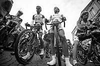 48th Amstel Gold Race 2013..Jelle Vanendert (BEL) & Brian Bulgaç (NLD) at the start
