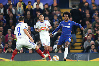 Willian of Chelsea in action during Chelsea vs MOL Vidi, UEFA Europa League Football at Stamford Bridge on 4th October 2018