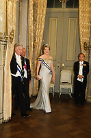 King Philippe of Belgium and Queen Mathilde of Belgium, on a State Visit to Portugal -  State Dinner