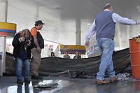 ITAQUAQUECETUBA, SP, 01/08/2019 - ACIDENTE-SP - Vista do posto de combustível onde dois homens morreram ontem, após uma explosão na cidade de Itaquaquecetuba nesta quinta-feira, 01. (Foto: Fernando Nascimento/Brazil Photo Press)